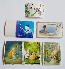2005-12安徒生童话80分3枚1998-28澳门建筑200分1枚等信销邮票共计6枚合售