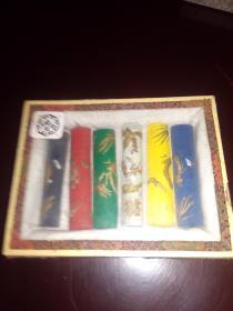 八十年代原装胡开文彩墨一盒六条 带原盒 长度6.5