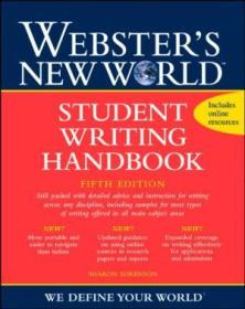 Websters New World Student Writing Handbook  Fifth Edition