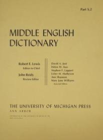 Middle English Dictionary (volume S.2)