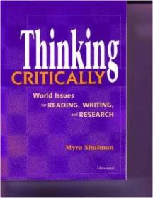 Thinking Critically: World Issues For Reading  Writing  And Research