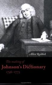 The Making Of Johnsons Dictionary 1746-1773 (cambridge Studies In Publishing And Printing History)