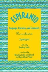 Esperanto: Language  Literature  And Community