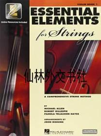 【包郵】Essential Elements For Strings - Book 1 With Eei: Violin