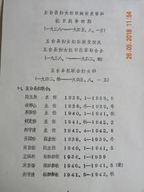 山西省五台县妇女组织建设史资料(一九三八——一九四五.八.一五)