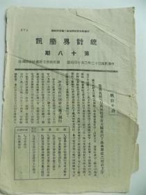 """民国原版《统计界简讯》第十八期,""""中华邮政登记认为第二类新闻纸类""""等"""