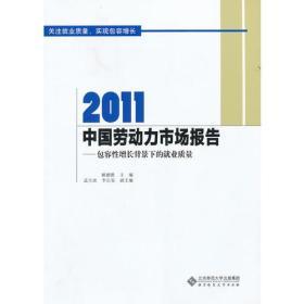 2011中国劳动力市场报告——包容性增长背景下的就业质量