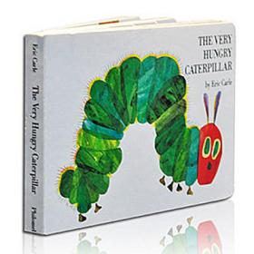 The Very Hungry Caterpillar  Board book 饥肠辘辘的毛毛虫 英文原版