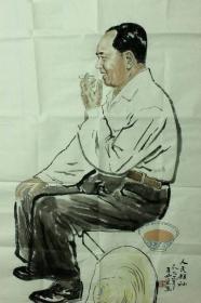 王西京国画作品--伟大领袖毛主席