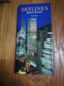 Skylines: Hong Kong 天际线:香港(英文原版,精装,长窄形16开本,铜版纸彩印画册)