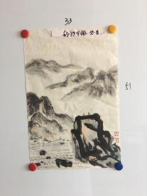 安徽画家张英山水画一幅33*51CM