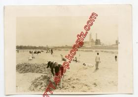 民国 1942年 山西太原钢铁厂+ 1930年代太原风 驴拉汲水2张