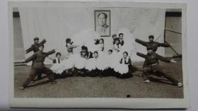 文革忠字舞场景照片,12厘米