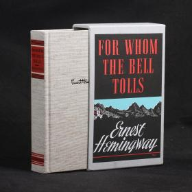 英文原版 FOR WHOM THE BELL TOLLS(丧钟为谁而鸣)【1968年布面精装函套复刻本】
