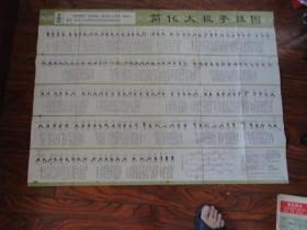 文革时期《简化太极拳挂图》有语录,1975版,1004厘米,750厘米