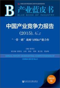 中国产业竞争力报告(2015)No.5-一带一路战略与国际产能合作-产业蓝皮书-2015版