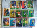 足球世界杯1998法兰西小虎队干脆面食品卡 球星卡银光卡散光卡五张:14号里瓦尔多21号桑帕约31号德波尔34图拉姆37德塞利+9张普通卡 非全套38张(不全看详细描述)