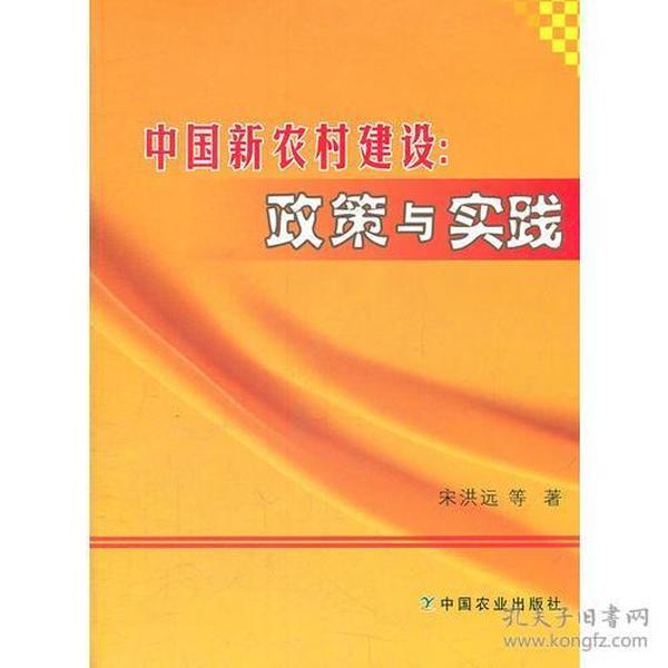 中国新农村建设:政策与实践