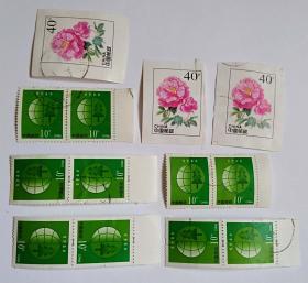 普30环境保护10分10枚信销邮票(赠送3枚40分信销如图)