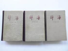 《辞海》词语分册   布脊精装全3册