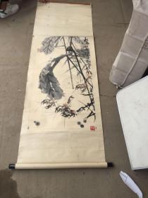 著名国画家李涵画《秋风吹破绿荷衣》原装原表保真