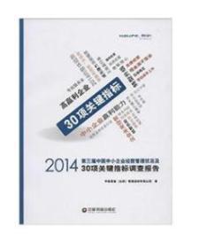 2014第三届中国中小企业经营管理状况及30项关键指标调查报告80726X