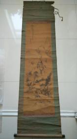 绢本老山水画