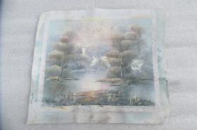 手工画油画一张有落款18050527O