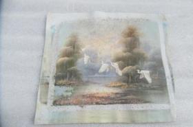 手工画油画一张有落款18050528O