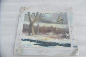 手工画油画一张18050529O