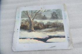 手工画油画一张18050530O