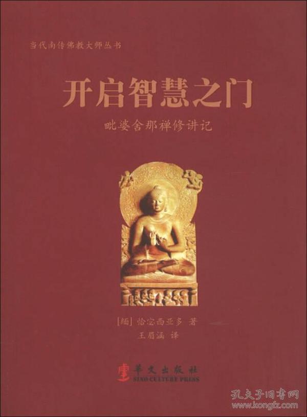 开启智慧之门 专著 毗婆舍那禅修讲记