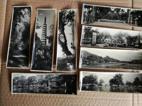 老照片《杭州风光》15X5公分20张一组;8.5X6.5公分30张一组,共50张老照片合售