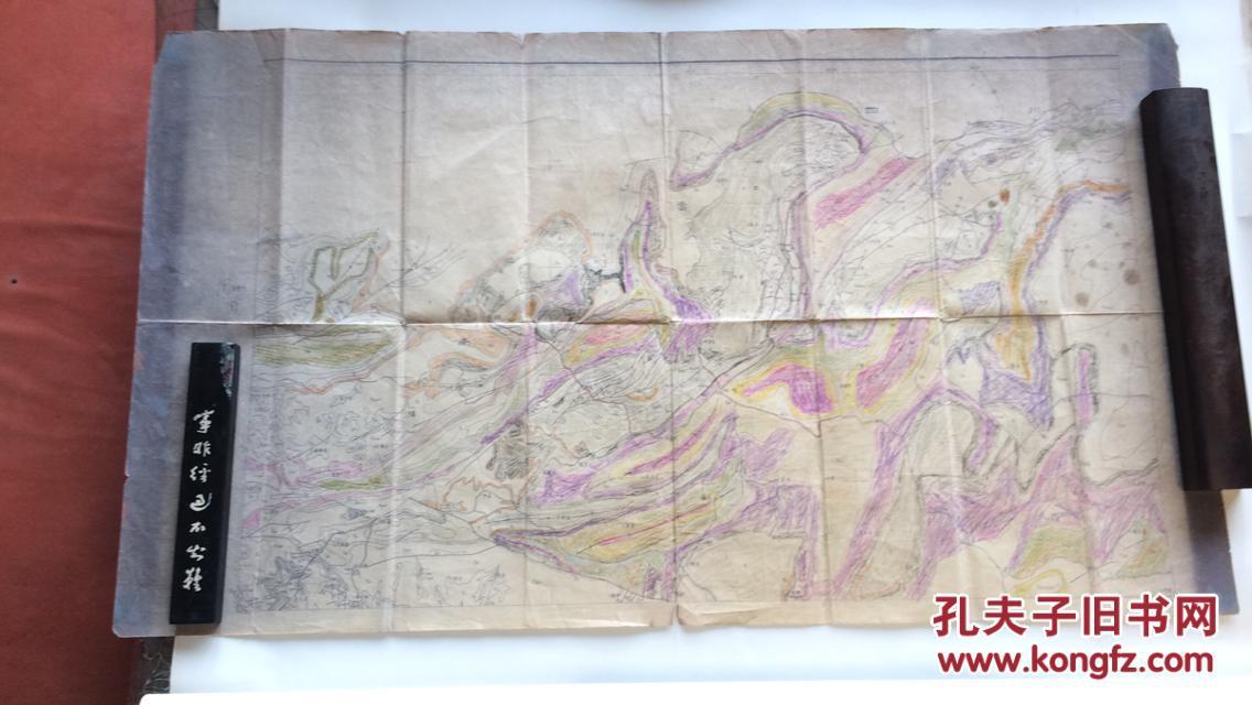 手绘毕节周边老交通地图原稿【旧地图原稿,绘制年代及时间不详】