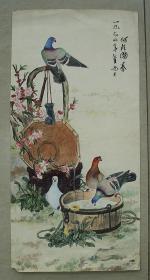 二张花鸟工笔画
