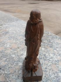 沉香木雕刻摆件达摩.高14.5cm*底座5cm