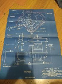 郭慕孙院士旧藏1944年蓝色图4开大【operating weight approx floor plan and elevation】