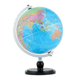 博目地球仪:20cm政区地球仪(时尚银架)