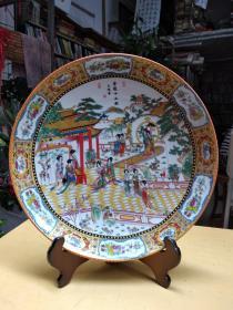 瓷盘  大观园 金陵十二钗