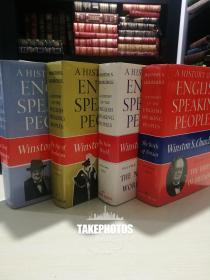 A History of The English Speaking Peoples 《英语国家史略》《英语民族史》Chruchill 丘吉尔名著 布面精装毛边本 全4卷 精品