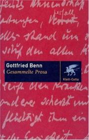 德文 德语 Gesammelte Prosa 散文集 Gottfried Benn 戈特弗里德·贝恩