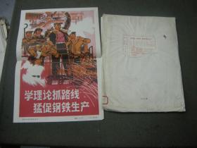 好品照片;75年新闻照片--大幅12寸《学理论抓路线,猛促钢铁生产》15张全