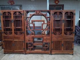 海南黄花梨书柜组合明清家具木器古董