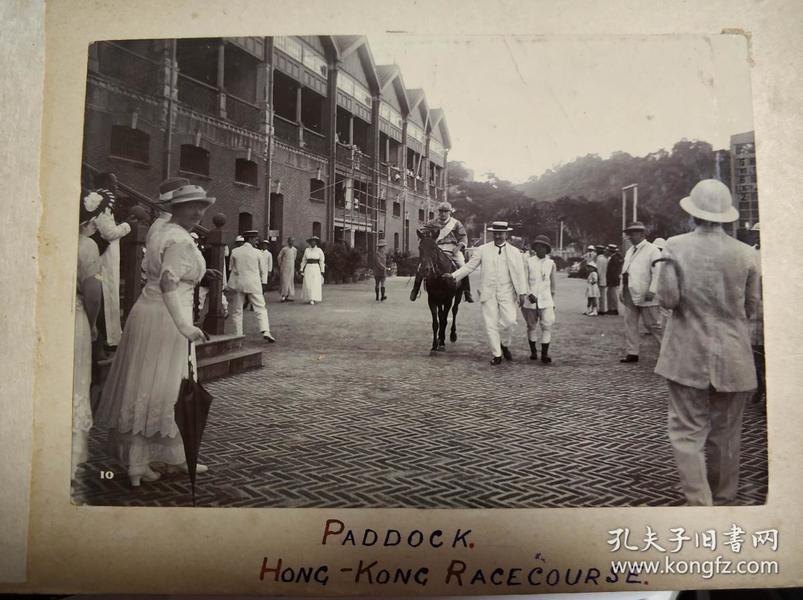 民國香港馬場馬師和山頂纜車老照片共兩張
