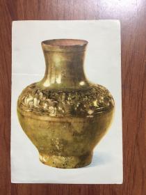 汉代黄釉陶壶 画片