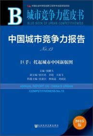 城市竞争力蓝皮书·中国城市竞争力报告No.13·巨手:托起城市中国新版图