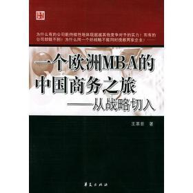 一个欧洲MBA的中国商务之旅——从战略切入