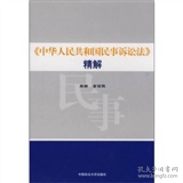 《中华人民共和国民事诉讼法》精解