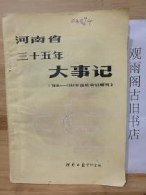 河南省三十五年大事记(1949-1984年报纸索引增刊)