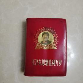 毛泽东思想胜利万岁 林像林题完整1969年北京,